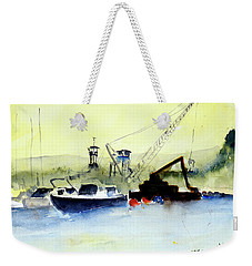 Dredging At Marin Yacht Club Weekender Tote Bag