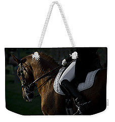 Weekender Tote Bag featuring the photograph Dressage D5284 by Wes and Dotty Weber