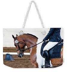 Dressage Show Horse Weekender Tote Bag