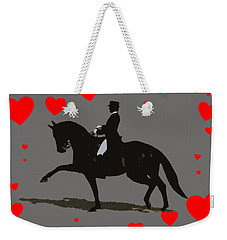 Dressage With Hearts Weekender Tote Bag by Patricia Barmatz