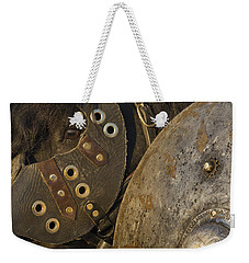 Weekender Tote Bag featuring the photograph Dressed For Battle D6722 by Wes and Dotty Weber