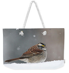 Weekender Tote Bag featuring the photograph Dressed For Snow by Living Color Photography Lorraine Lynch