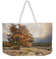 Dressed In Autumn Weekender Tote Bag