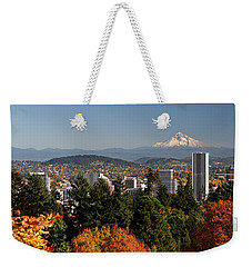 Dressed In Fall Colors Weekender Tote Bag by Wes and Dotty Weber