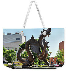 Weekender Tote Bag featuring the photograph Drexel University Dragon - Philadelphia Pa by Bill Cannon
