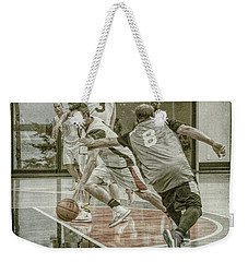 Weekender Tote Bag featuring the photograph Dribble Drive by Ronald Santini