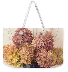 Weekender Tote Bag featuring the photograph Dried Hydrangea by Michael Friedman