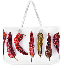Dried Peppers Lined Up Weekender Tote Bag