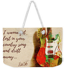 Weekender Tote Bag featuring the digital art Drift Away Country by Nikki Marie Smith