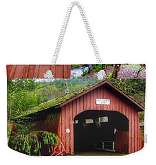 Drift Creek Covered Bridge Weekender Tote Bag