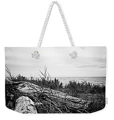 Weekender Tote Bag featuring the photograph Drift Wood by Karen Stahlros