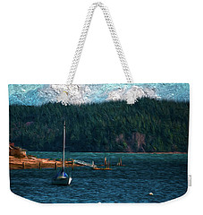 Weekender Tote Bag featuring the digital art Drifting by Timothy Hack