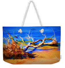 Weekender Tote Bag featuring the photograph Driftwood by Ludwig Keck