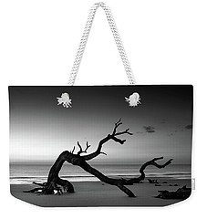 Driftwood Morning In Black And White Weekender Tote Bag