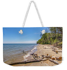 Driftwood On The Beach Weekender Tote Bag