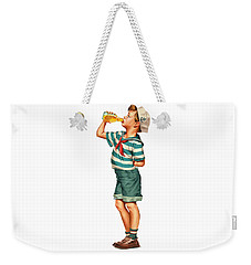 Weekender Tote Bag featuring the digital art Drink Up Sailor by ReInVintaged