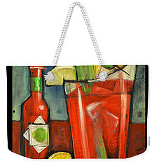 Drink Your Vegetables Poster Weekender Tote Bag by Tim Nyberg