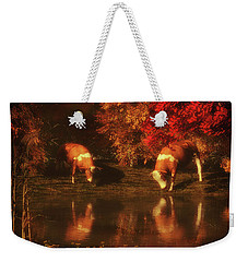 Drinking Cows In The Forest Weekender Tote Bag