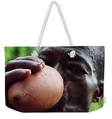 Drinking Palm Wine Gourd Weekender Tote Bag