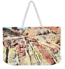 Dripping Color In Valley Of Fire Weekender Tote Bag