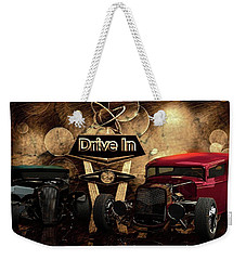 Weekender Tote Bag featuring the photograph  Drive In by Louis Ferreira