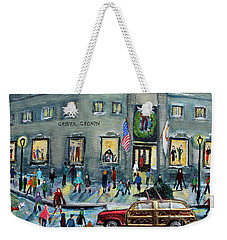 Driving By Cronins, After Getting The Tree Weekender Tote Bag by Rita Brown