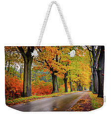Driving On The Autumn Roads Weekender Tote Bag