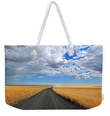 Driving Through The Wheat Fields Weekender Tote Bag