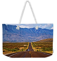 Driving To The Blue Weekender Tote Bag