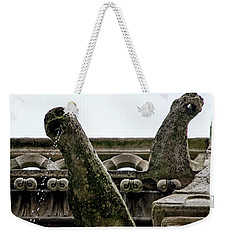 Weekender Tote Bag featuring the photograph Drooling Gargoyles by Jean Haynes