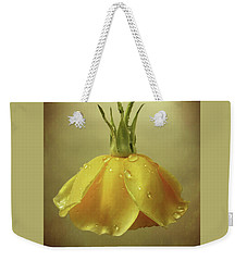 Drop Rose Weekender Tote Bag