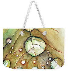 Weekender Tote Bag featuring the painting Dropping In by Allison Ashton