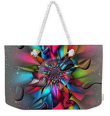 Weekender Tote Bag featuring the digital art Drops By Nico Bielow by Nico Bielow