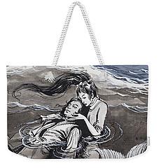 Drowned Man Being Assisted By A Mermaid Weekender Tote Bag