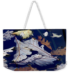Weekender Tote Bag featuring the photograph Drowning In Indigo by Doris Potter