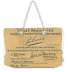 Weekender Tote Bag featuring the photograph Druggists by ReInVintaged