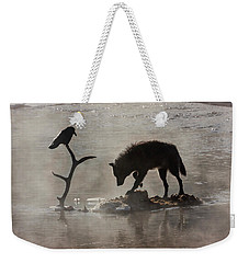 Druid Wolf And Raven Silhouette Weekender Tote Bag