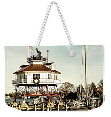 Drum Point Light Weekender Tote Bag