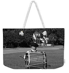 Weekender Tote Bag featuring the photograph Drummer Boy by Eric Liller