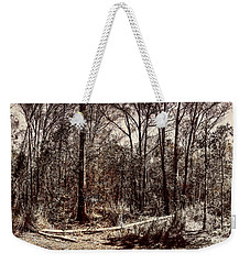 Weekender Tote Bag featuring the photograph Dry Autumn Landscape Of A Vintage Woodland by Jorgo Photography - Wall Art Gallery