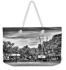Dry Dock - St. Helena Shrimp Boat Weekender Tote Bag by Scott Hansen