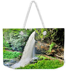 Weekender Tote Bag featuring the photograph Dry Falls Highlands North Carolina 2 by Lisa Wooten