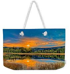 Dry Lagoon Spring Morning Weekender Tote Bag