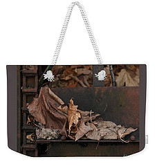 Dry Leaves And Old Steel-i Weekender Tote Bag by Patricia Overmoyer
