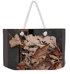 Dry Leaves And Old Steel-ii Weekender Tote Bag by Patricia Overmoyer