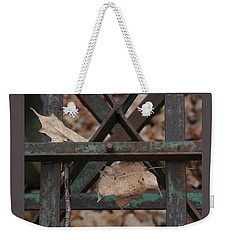 Dry Leaves And Old Steel-iii Weekender Tote Bag by Patricia Overmoyer