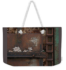 Dry Leaves And Old Steel-iv Weekender Tote Bag by Patricia Overmoyer