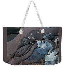 Dry Leaves And Old Steel-ix Weekender Tote Bag