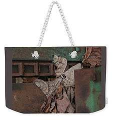 Dry Leaves And Old Steel-v Weekender Tote Bag by Patricia Overmoyer