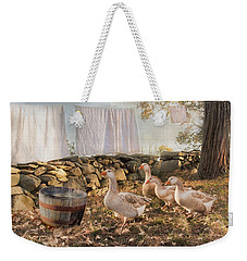 Weekender Tote Bag featuring the photograph Drying Out by Robin-lee Vieira